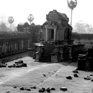 Corner wall in Temple of Ankor Wat, Cambodia