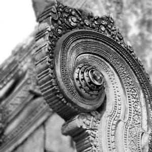 Detail of Banteay Syrei Temple, Cambodia