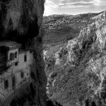 Cliff side monastery in Stemnista, Greece