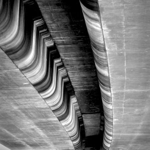Underside of freeway overpass in Sacramento, California