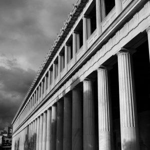 Exterior of Stoa in ancient agora, Athens, Greece