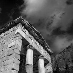 Athen's city offering temple, Delphi, Greece