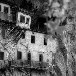 Cliff-side orthodox monastery, Stemnista, Greece