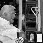 Local Spaniard at cafe, Barcelona, Spain