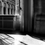 Hallway window in El Escorial Palace, Spain