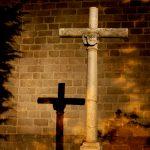 Cross in church yard, Avila, Spain