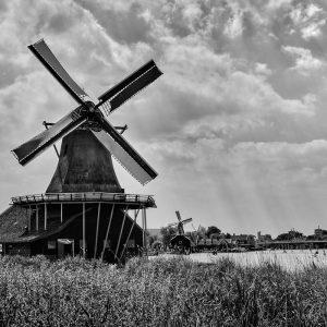 4oo year old windmills at the open air museum, Zaanse Schans, Netherlands
