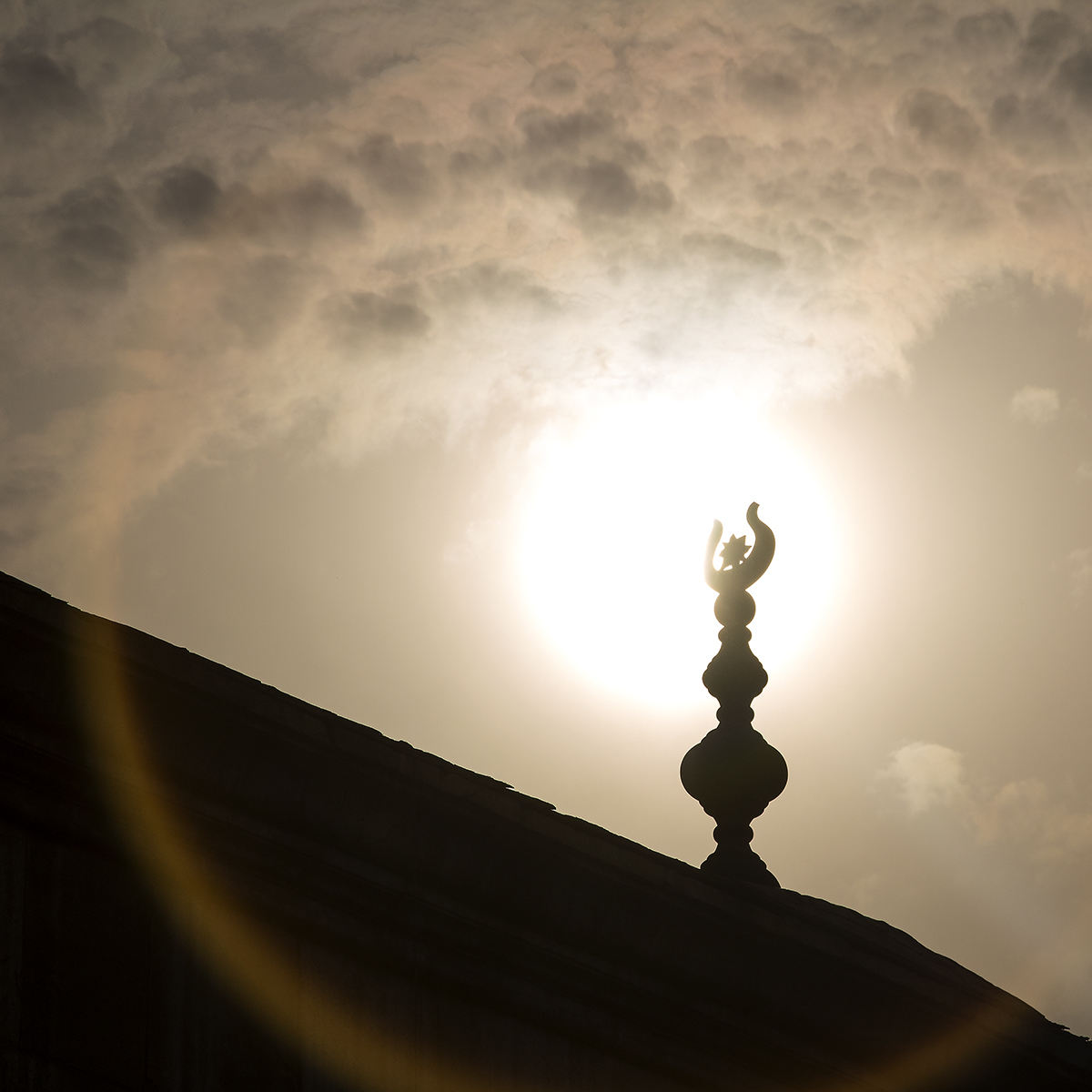 A decoration on top of the Mosque of Muhammad Ali Pasha within the Citadel, Cairo, Egypt