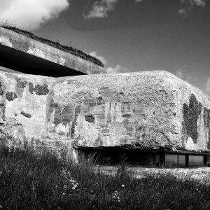WWII German concrete bunker at Bangsbo Fort, North Jutland, Denmark
