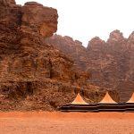 Modern bedouin tents in Wadi Rum, Jordan