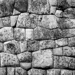 Meticulously carved stones within the walls of the fortress-temple, Sacsayhuaman, Cusco, Peru