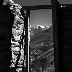 A doorway in the Incan ruins above the town of Ollantaytambo, Peru