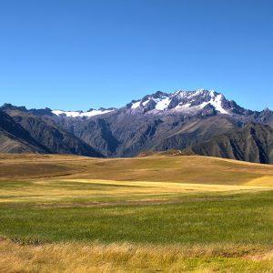 An Andean plateau near Maras, Peru