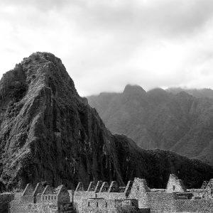 Incan ruins of Machu Picchu with Huayna Picchu in the background, Peru