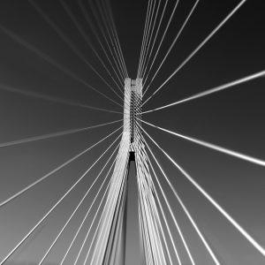 Rio–Antirrio bridge crossing the Gulf of Corinth near Patras, Greece