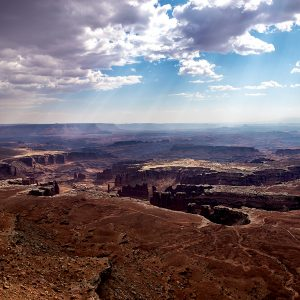 Massive carved canyons slowly erode, Canyonlands NP, Utah