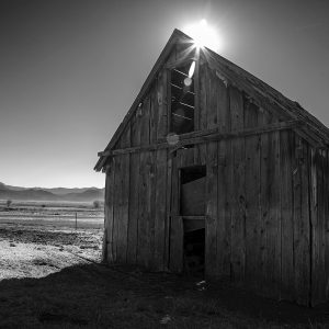 An ol' barn endures through the ages, south Utah