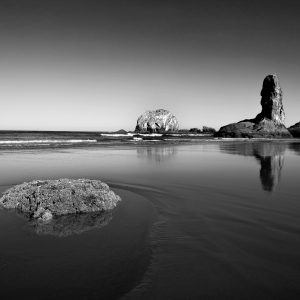 Groups of sea stacks give an otherworldly feel, OR