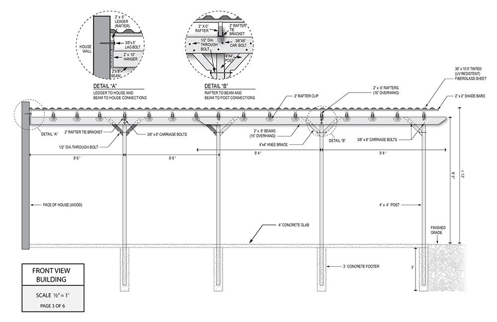 Pergola Structure Design Plan 1
