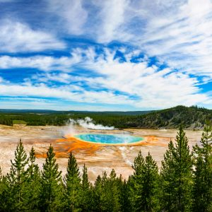 The Grand Prismatic Spring, Yellowstone NP, WY
