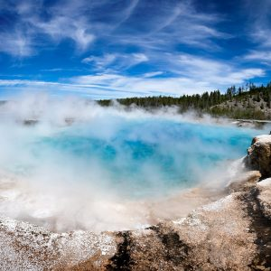 The lower overflow pool of the Grand Prismatic Spring, Yellowstone NP, WY
