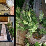 Construction and finals of formal brick garden
